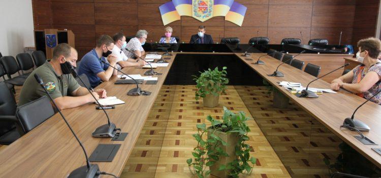 В облдержадміністрації провели чергове засідання регіональної комісії з питань ТЕБ і НС Полтавської області